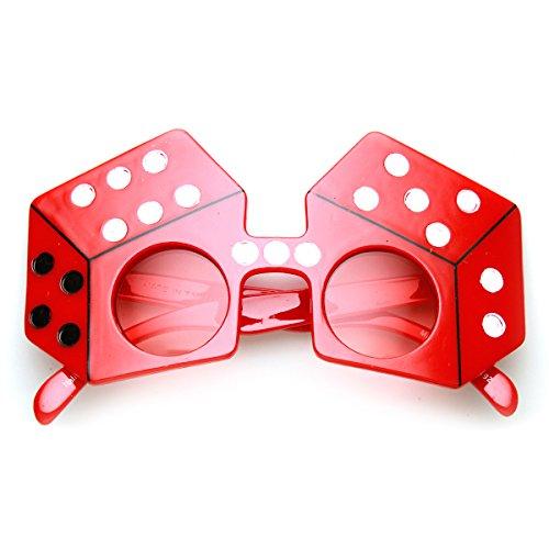 zeroUV - Dice Shape Craps Las Vegas Party Celebration Novelty Sunglasses - Crap Sunglasses