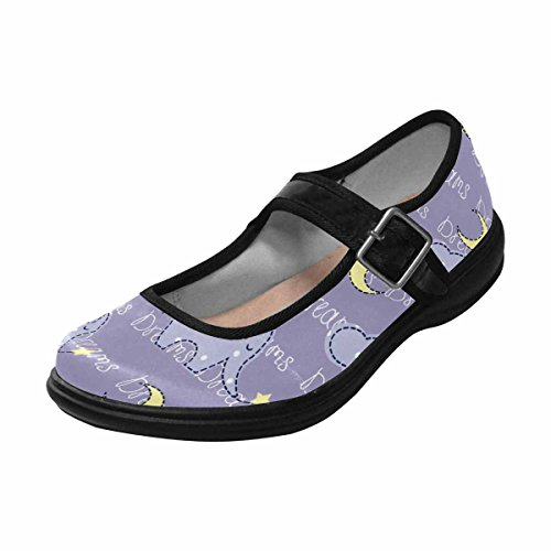 Casual Womens InterestPrint Comfort Flats Jane Shoes Multi Mary 1 Walking q1XCwd5WXr