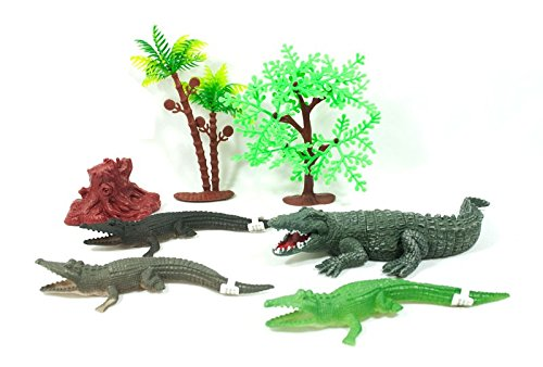 LilPals Reptile Bundle (7 Piece Set) - Great For Stocking Stuffer Birthday Cake Topper, Party Favor Bags, School Classrooms, Carnivals, Festivals And Countless Other Events -