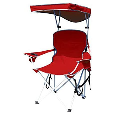 Perfect Bravo Sports 149578 Four Seasons Courtyard Shade Chair With Canopy And  Carry Case, Red Polyester