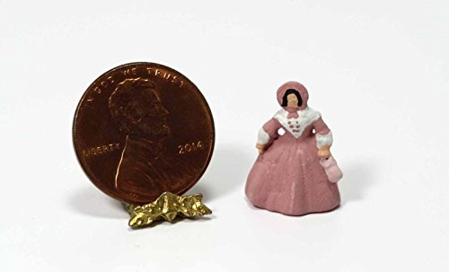Dollhouse Miniature 1:12 Southern Belle Doll Figurine in Pink by Multi Minis ()