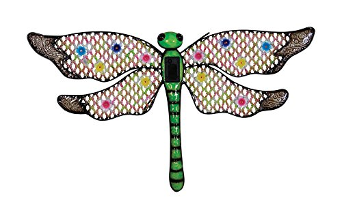 Solar Wall Art Dragonfly by Exhart