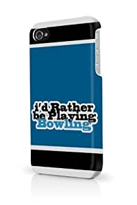 LJF phone case Blue Id Rather Be Playing Bowling iPhone 5 & 5S - Fits iPhone 5 & 5S Full Print Plastic Snap On Case