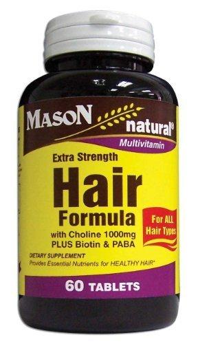3 Pack Special of MASON NATURAL EXTRA STRENGTH HAIR VITAMIN (Extra Strength Tablet Vitamins)