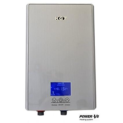 Hervidor de agua instantánea 8,8 kW KGT ajuste táctil ducha, lava manos,
