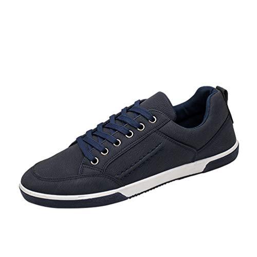 Zapatillas Zapatillas de YAANCUNN de Hombre On Deporte Running Transpirable Azul Slip 1xpYnx