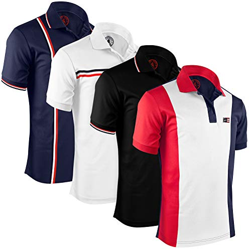 Albert Morris Mens Polo Shirts (4 Pack, X-Large) Polo Shirts for Men, Shirts for Men, Short Sleeve Mens Shirts, The Gentleman Pack ()