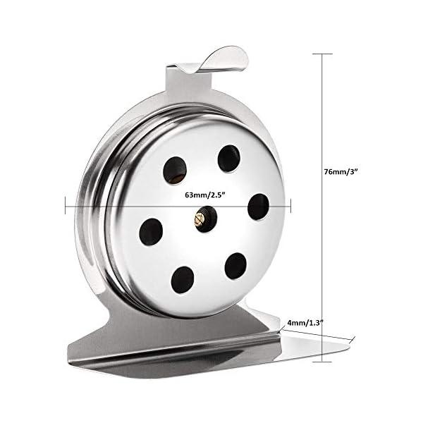 Invero - Termometro da forno universale in acciaio inox, per il monitoraggio della temperatura, da appendere o stare in… 2