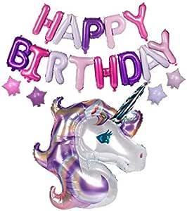 Party Supplies Large Unicorn Birthday Balloons