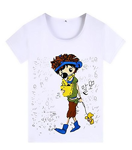 Pattern Estivi Donna Shirts Tshirt Donna Tops Camicetta Stampato Corta White Collo Fashion Casual Eleganti 4 Donne Manica Camicia Casuale Battercake alla Moda Rotondo Base CXw8f5