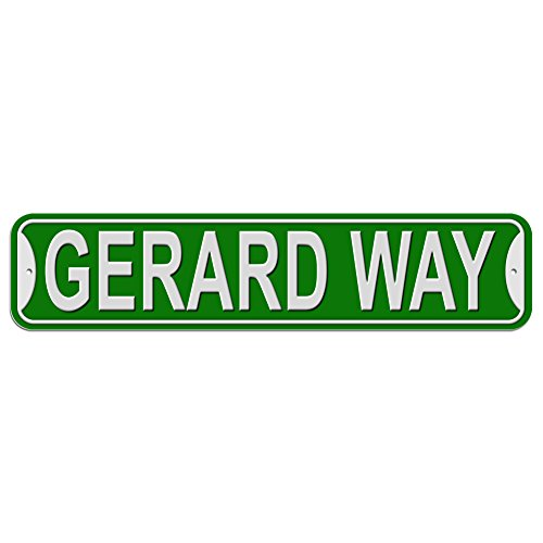Gerard Way Sign - Plastic Wall Door Street Road Male Name - Green (Way Sign Street)