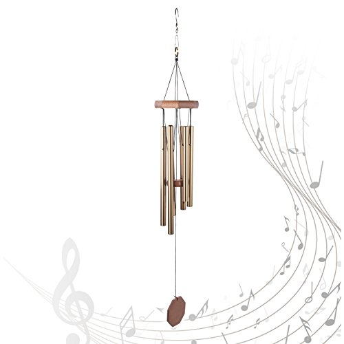 """Windic Wind Chime, 29.9"""" Wind Bell with 6 Aluminum Tubes with Beautiful Sound, for Patio,Garden, Balcony,Yard,Porch,Outdoor,Indoor Décor"""