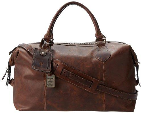 Duffle Handbag - FRYE Men's Logan Overnight Duffle Bag, Dark Brown, One Size