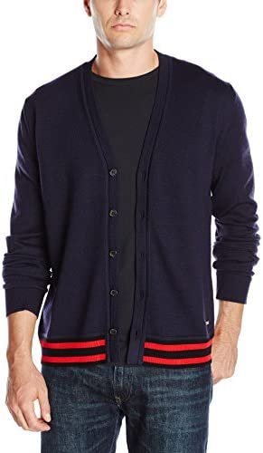Just Cavalli Mens Leopard Print Linded Cardigan Sweater