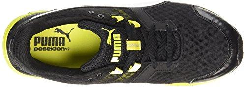 Puma Poseidon v2 - zapatillas de running de material sintético hombre negro - Schwarz (black-sulphur spring-puma silver 02)