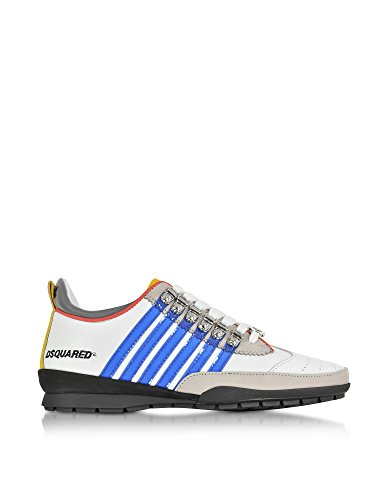 DSQUARED2 HOMME S17SN1311102M313 BLANC CUIR BASKETS