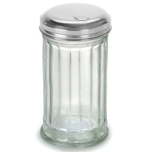 TrueCraftware - Glass Sugar Dispenser with Stainless Steel Lid - 12 Ounce by TrueCraftware (Image #1)