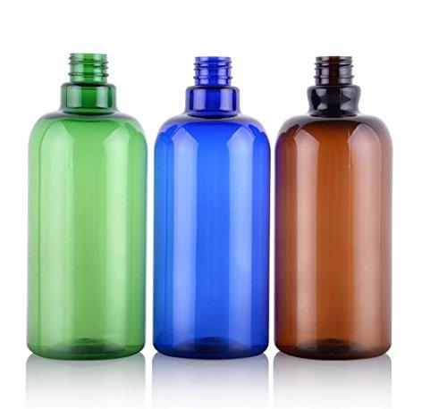 9455717fbb59 2PCS 500ml 16.66Oz. Refillable Empty PET Plastic Pump Bottles Jars ...