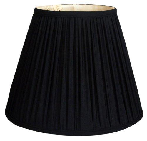 (Royal Designs Deep Empire Gather Pleat Basic Lamp Shade, Black, 6 x 12 x 9.25)