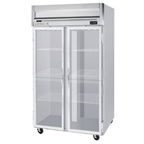 Beverage-Air HBRF49-1-G 52'' Horizon Series Two Section Glass Door Dual Temperature Reach-In Refrigerator/Freezer 49 cu.ft. Capacity Stainless Steel Exterior and Interior with Bottom by Beverage Air