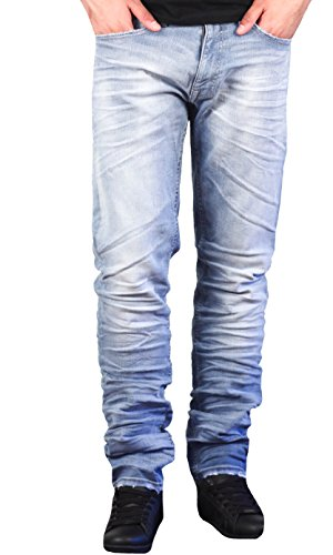 Jordan Craig Men's Slim Straight Aaron Stack Jeans From Legacy Edition by Jordan Craig