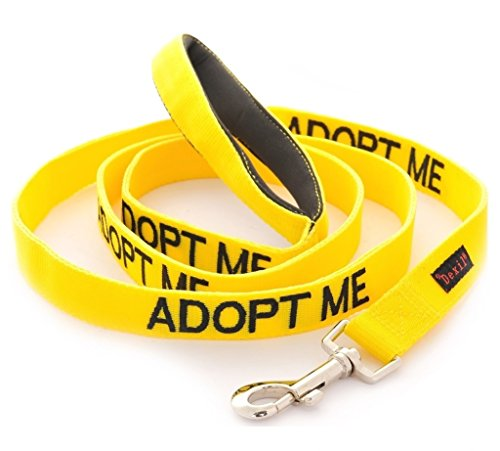 ADOPT ME Yellow Color Coded 4 Foot Padded Dog Leash (New Home Needed) Donate To Your Local Charity by Dexil Limited