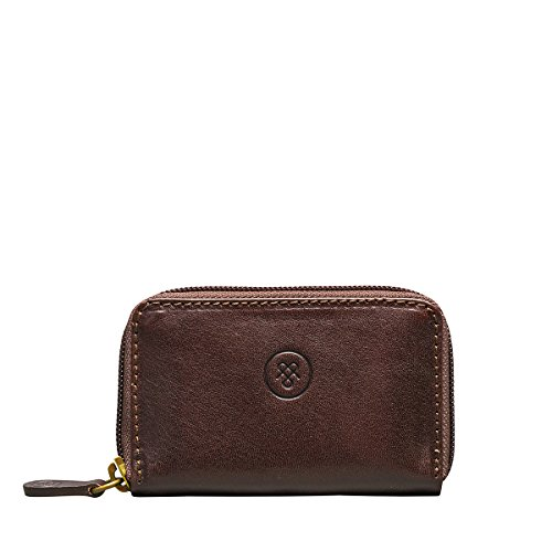 Maxwell-Scott Great British Design, Chocolate Brown Handmade Italian Full Grain Leather Key Holder (The (Chocolate Brown Italian)