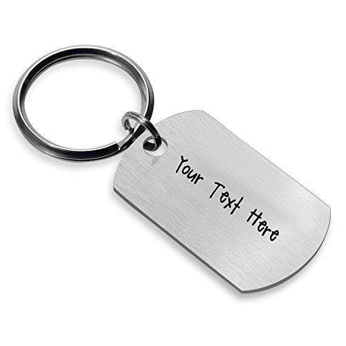 Personalized Naughty Words Keychain Dog Tag Gift for Boyfriend Valentine's Day (Engraving) -