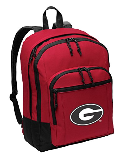 Broad Bay University of Georgia Backpack MEDIUM CLASSIC Style With Laptop Sleeve by Broad Bay
