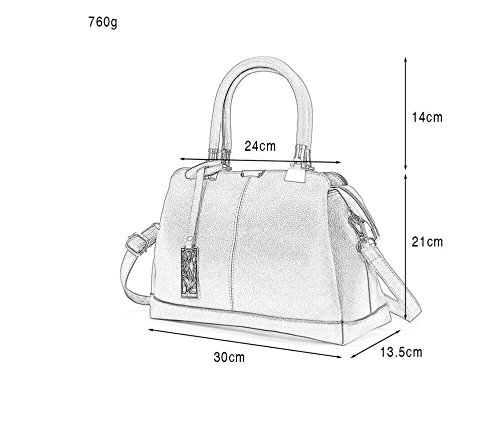 De Señoras Bag Nuevo Tendencias Hot Bolso Bag Blanco Bolso Meaeo Moda black Satchel C6gwnaxq