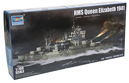 Trumpeter HMS Queen Elizabeth 1941 Model Kit (1 700 Scale) by Trumpeter