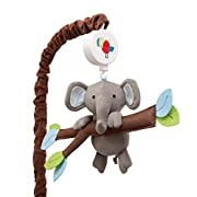 Lambs & Ivy Treetop Buddies Elephant Musical Mobile, Brown/Green