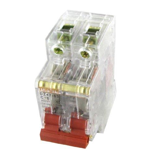 DealMux AC 400V 16A 2P Transparent Miniature Mini Circuit Breaker