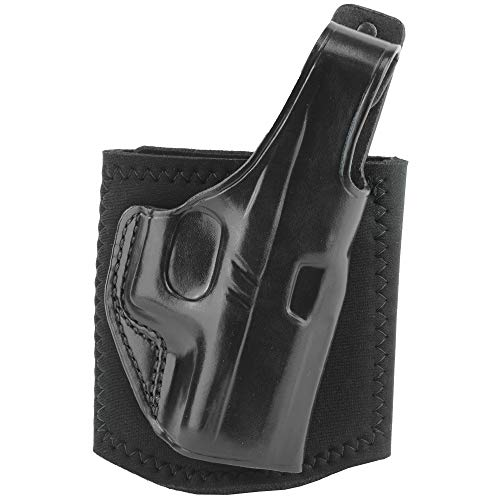 Right Hand Black Ankle Holster - Galco AG800B Black Right Hand Ankle Glove (Ankle Holster) For Glock 43