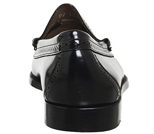 G.H. Bass Larkin Brogue Tassel Loafers Black Leather U8zN58Osc