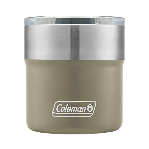 Coleman Sandstone Sundowner Insulated Stainless Steel Rocks Glass, 13oz by Coleman