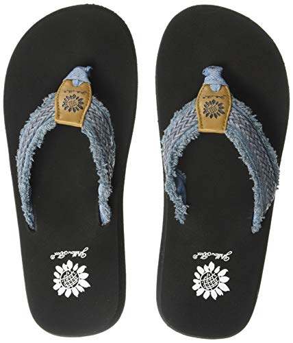 - Yellow Box Women's Fianni Flip-Flop, Denim, 11 M US