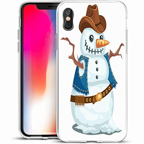 Western Snowman - Ahawoso Custom Phone Case Cover for iPhone X/XS 5.8