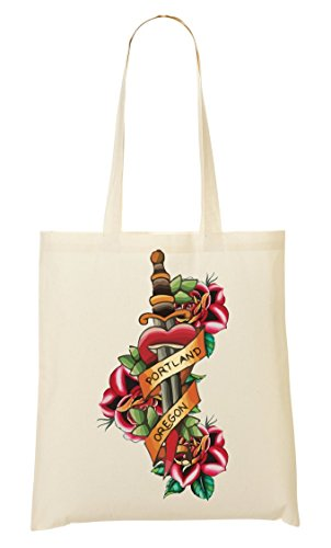 Through Vintage Heart Old Sacchetto Tattoo Colors School Tote Sword Di Collection Flowers Dagger pqSpTd