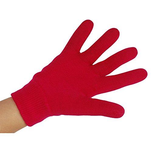 EMILYSTORES Moisturize Soften Repair Cracked Skin Treatment Moisturizing Full Gel Gloves Jojoba Oil Vitamin E Spa Magenta 1Pair