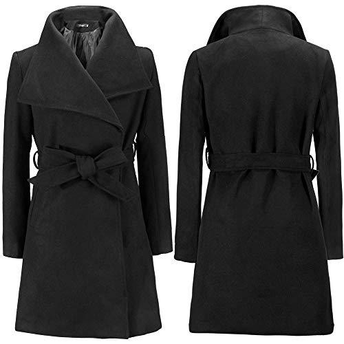 Cappotto Al Tenere Black Tratto Donna Caldo Egcra Allentato Cappotti Inverno Soprabito Lungo qgxOAB