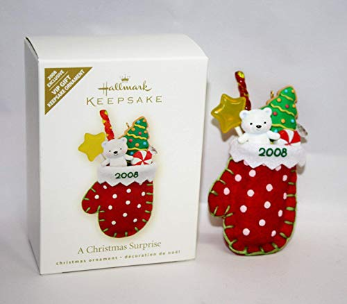 (Hallmark Keepsake Ornament A Christmas Surprise 2008 Exclusive VIP Gift Ornament )