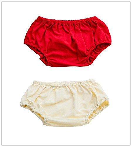 WGOODTECK Baby Girls & Boys Solid Color Cotton Diaper Covers (Solid Bloomers)