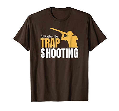 Mens I'd Rather Be Trap Shooting T Shirt 21065 Small - Trap Rather