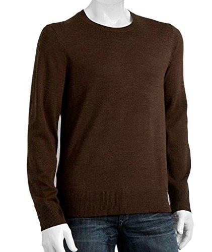 Liz Claiborne Apt 9 Merino Wool Blend Crewneck Sweater Size 3XB Big Tall Brown