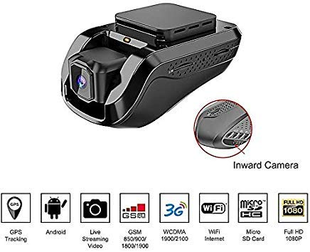 Sim Cam - Dash Cam Car Video Recorders - Amacam AM-G10 with 3G GPS Live Video Streaming to Your Phone. Front Facing & Internal Views. Monitor Your Vehicle in Real Time from Any Location. 16GB Card Included.
