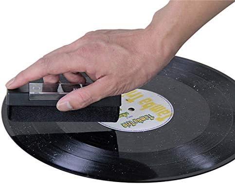 Anti Statico Spazzola di Pulizia Case/&Cover Vinyl Record Cleaner Kit Gramophone Spazzola di Pulizia Record Scrub Clean Tool