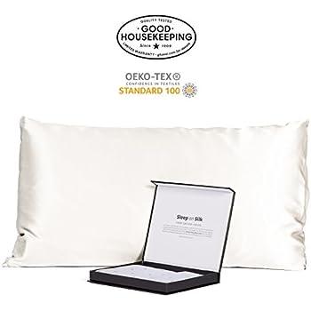 Amazon Com 100 Silk Pillowcase For Hair Zippered Luxury