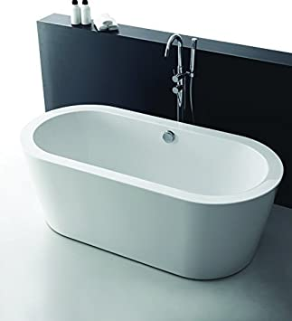 Empava 67u0026quot; Luxury Stand Alone Acrylic Soaking SPA Tub Modern  Freestanding Bathtubs With Custom Contemporary