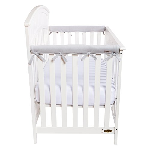 Trend Lab Waterproof CribWrap Rail Cover – For Narrow Side Crib Rails Made to Fit Rails up to 8″ Around. Pack of 2!